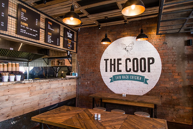 The interior at The Coop. Photo courtesy of the restaurant.