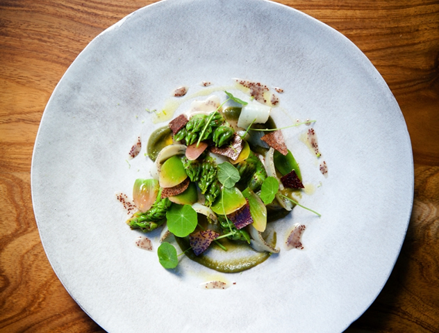 Perlemoen, waterblommetjie and sour fig at 3.The Tasting Room at Le Quartier Français.