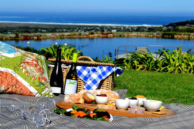 A picnic with a sea view at Cape Point Vineyards Restaurant. Photo courtesy of the restaurant.