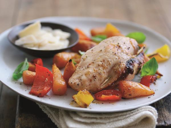 Chicken breasts with pesto and Parmigiano Reggianos