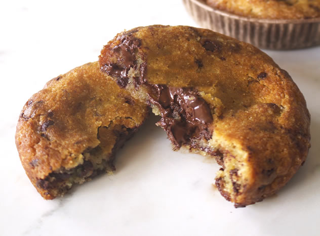 Ooey gooey choc-chip cookie at the The Creamery Cafe. Photo courtesy of the restaurant.