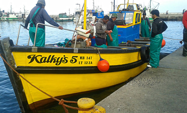 The fresh catch arriving at Kalky's. Photo courtesy of the restaurant.