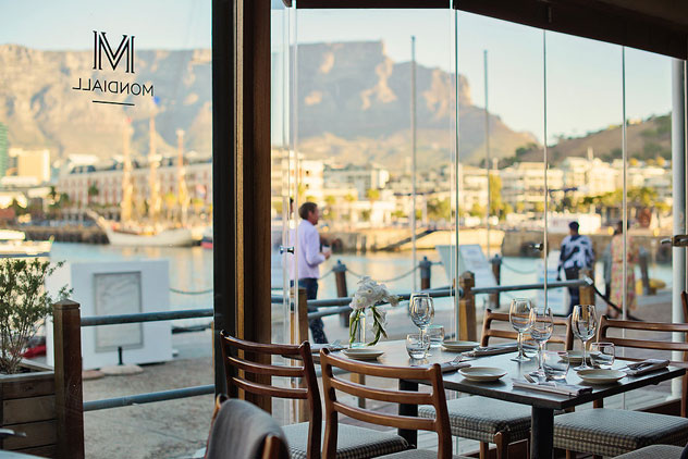 Views of Table Mountain from the harbour side of Mondiall. Photo courtesy of the restaurant.