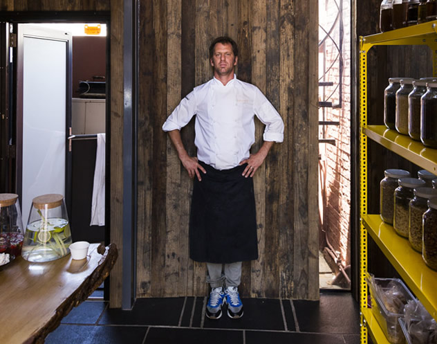 Chef Luke Dale-Roberts standing in Naturalis' pantry. Photo courtesy of the restaurant.