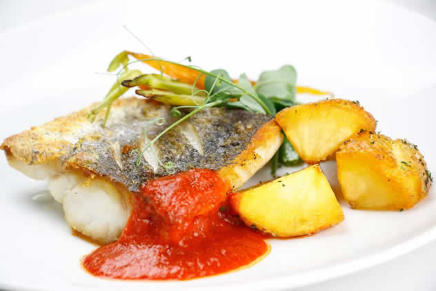 A fish and potato dish at Culinary Table. Photo courtesy of the restaurant.