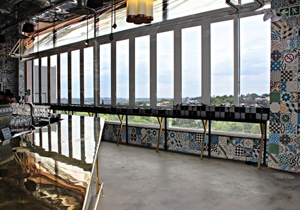 A meal with a view at the EB Social Kitchen & Bar. Photo supplied.
