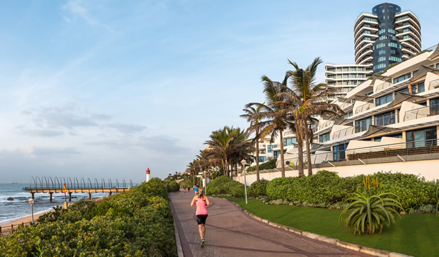 The beachfront at Umhlanga. Photo courtesy of South African Tourism on Flickr.
