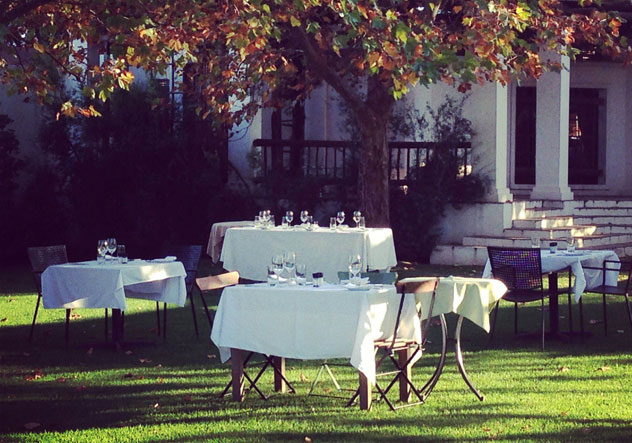 The tables outside at Fresh at Paul Cluver. Photo courtesy of the restaurant.