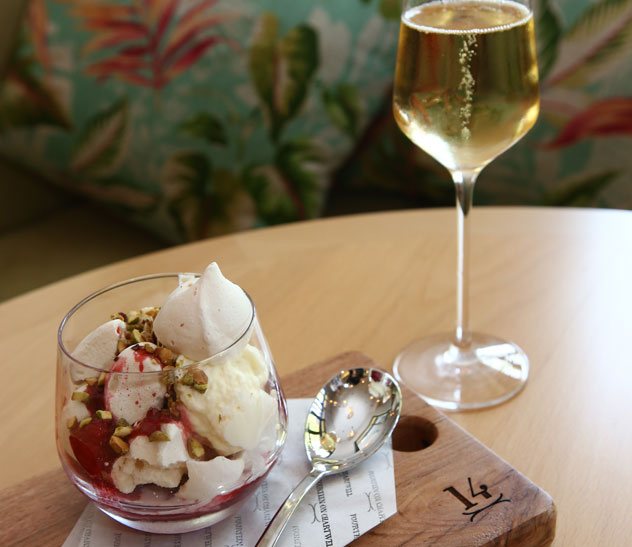 The Eton mess at Fourteen on Chartwell. Photo courtesy of the restaurant.