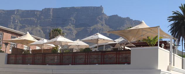 A view of the rooftop terrace at Rick's Café Americain. Photo courtesy of the restaurant.