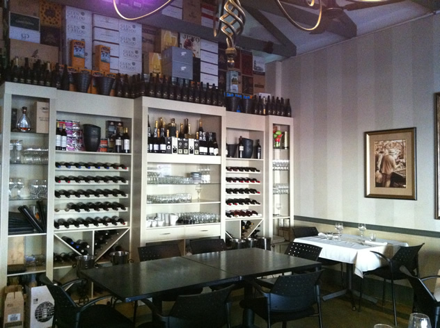 The wine rack at the Zest Bistro. Photo courtesy of the restaurant.