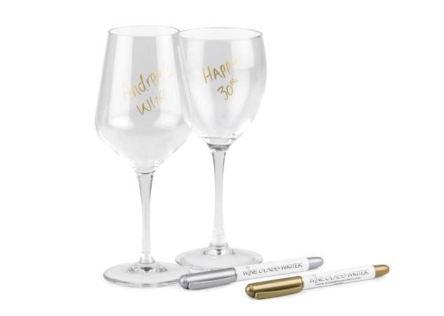 Wineglass marker pens.