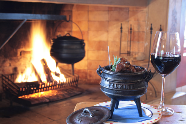 Food in a potjie at 96 Winery Road. Photo courtesy of the restaurant.