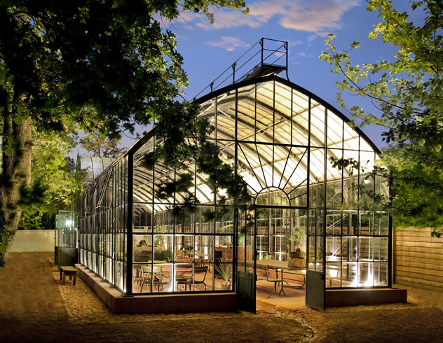 An outside of The Greenhouse at Babylonstoren . Photo courtesy of the restaurant.