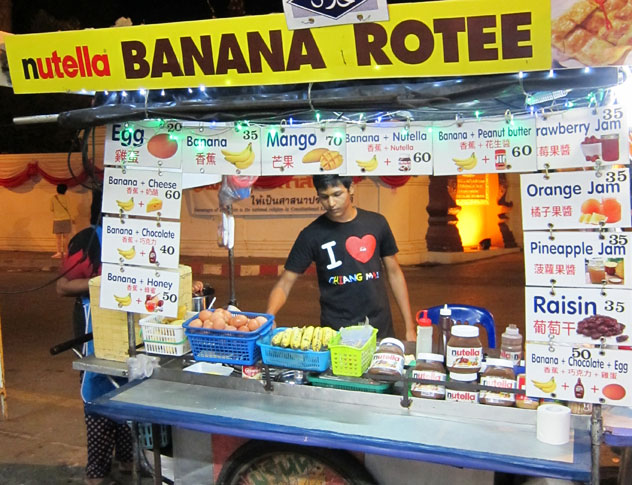 A roti stall in Chiang Mai.