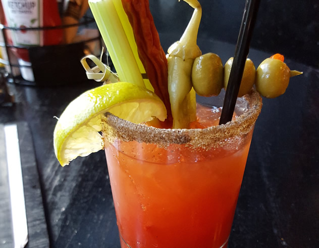 A Canadian specialty cocktail called a Caesar.