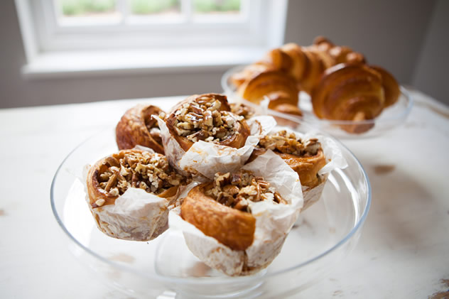 Pecan-nut sticky buns for breakfast at Open Door Restaurant. Photo courtesy of the restaurant.