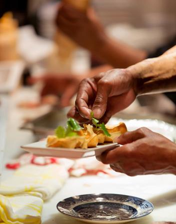 Fushin food being plated