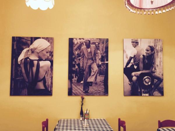 Italian posters inside Bella Casa