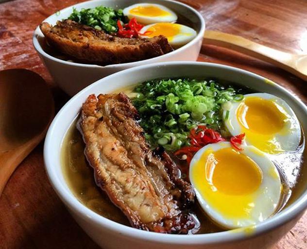 Ramen bowls at Downtown Ramen