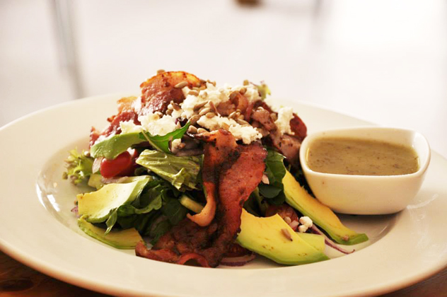 Sanook bacon and avo salad