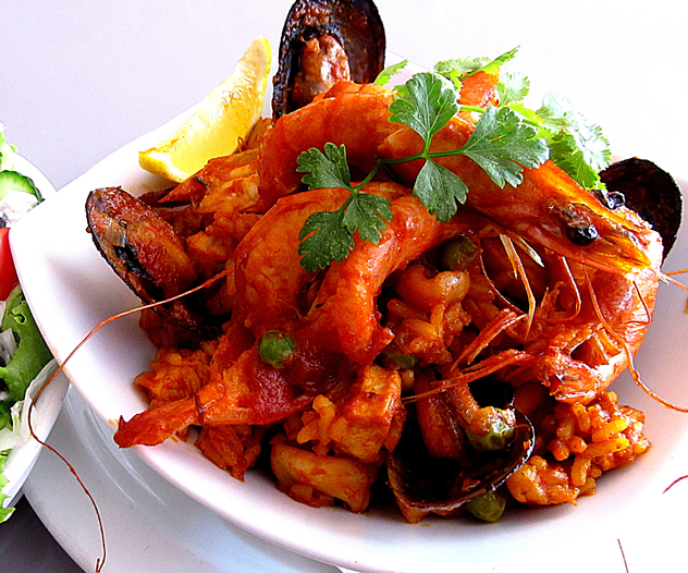Seafood Paella at Cafe Goa. Photo courtesy of the restaurant.