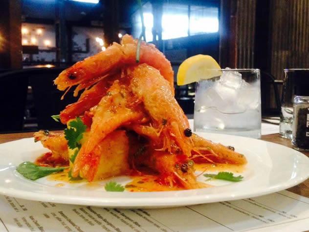 A prawn dish from the Shadow Boxer Brasserie. Photo courtesy of the restaurant.