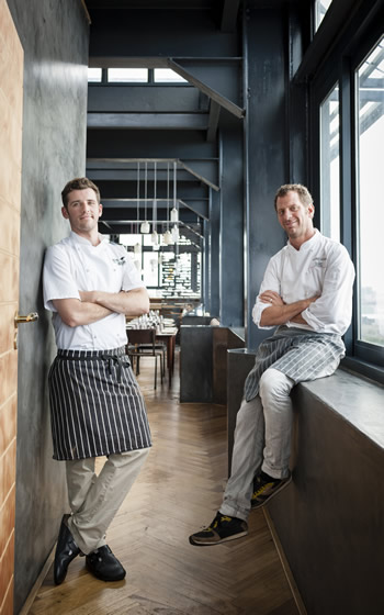The Pot Luck Club Head Chef Wesley Randles & Chef Proprietor Luke Dale-Roberts. Photo courtesy of the restaurant.