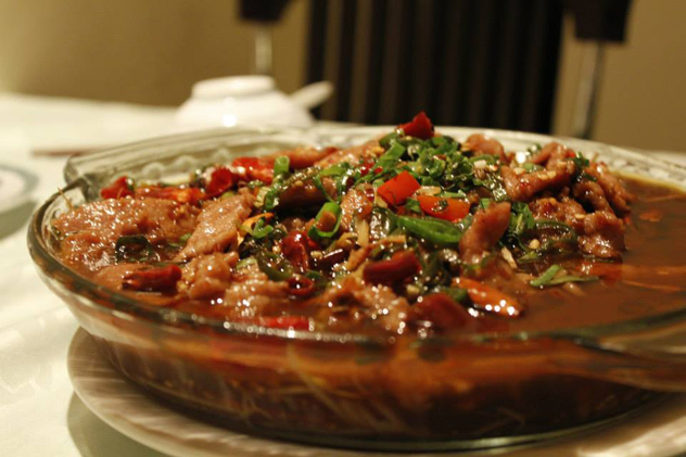 Wing Hin beef served with chilli sauce