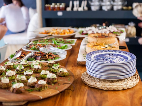 The harvest table spread at Delish Sisters. Photo supplied.