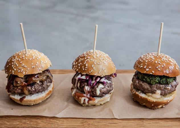 IYO mini burgers. Photo supplied.