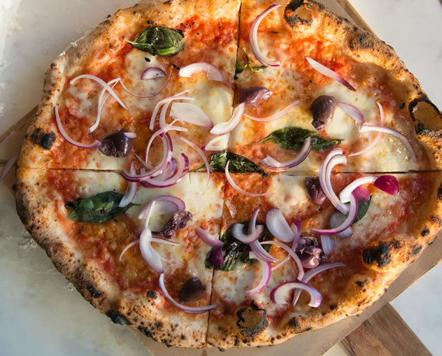 A pizza at Bocca in Bree Street. Photo courtesy of the restaurant.