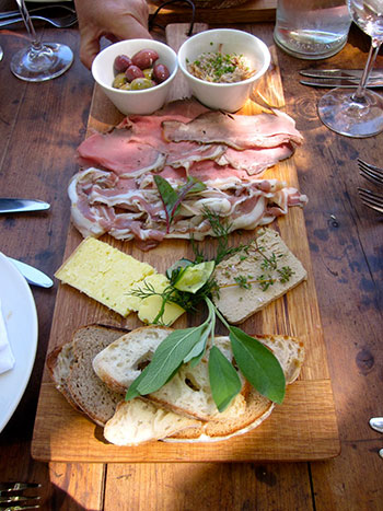 A charcuterie board at The Pool Room. Photo courtesy of the restaurant.