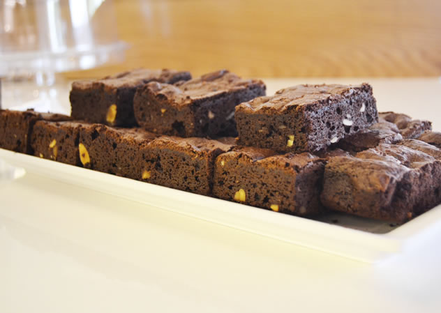 Chocolate brownies at SMAK delicatessen