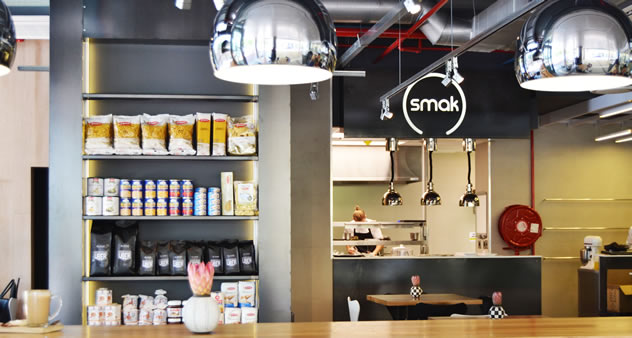 Another interior view at SMAK delicatessen