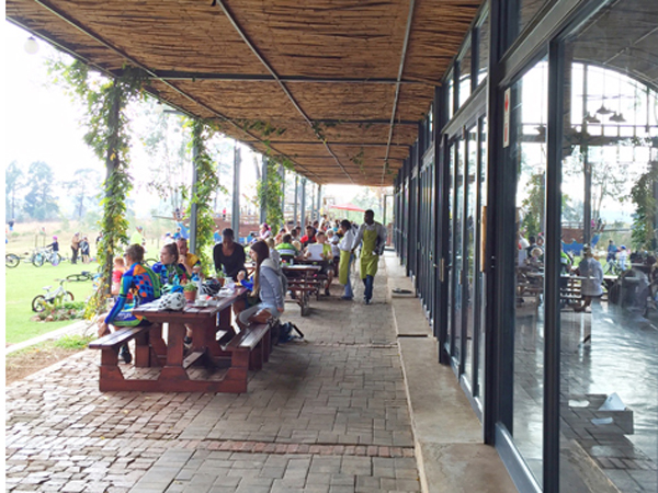 guests seated outside at Olifants Café