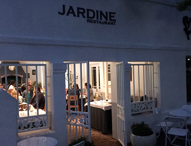 The entrance to Jardine Restaurant. Photo courtesy of the restaurant.