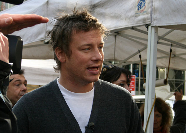 Jamie Oliver in Union Square, New York. Photo by really short, Flickr.