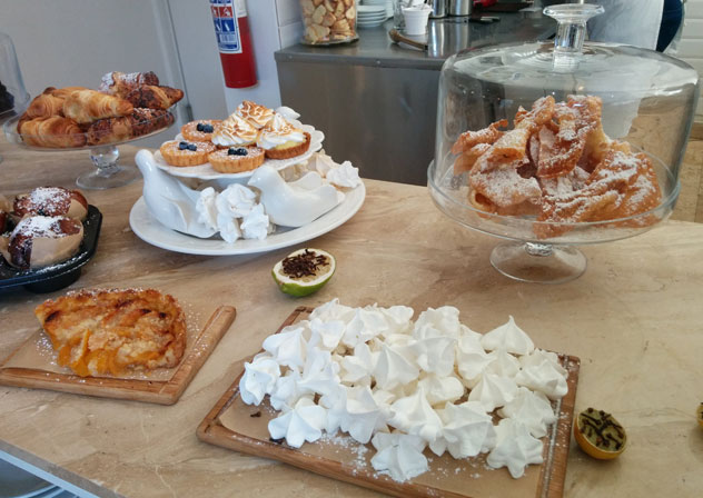 Mini meringues at Giulio's. The cafe often has tiny tartlets on offer, too.