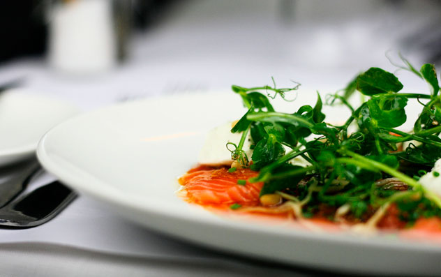 A previous incarnation of the salmon dish, with ginger and schalotte dressing. Photo courtesy of the restaurant.