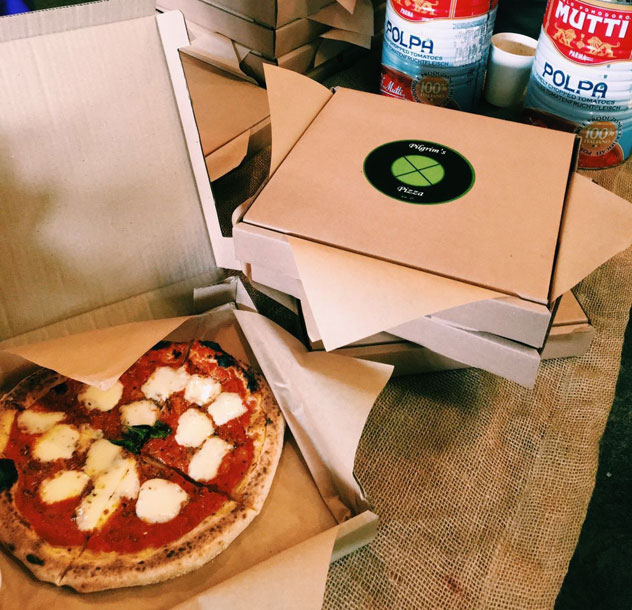 Grab your slice at The Neighbourgoods Market or The Melville Night Market. Photo courtesy of Pilgrim's Pizza.