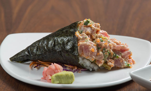 The spicy tuna temaki. Photo courtesy of the restaurant.