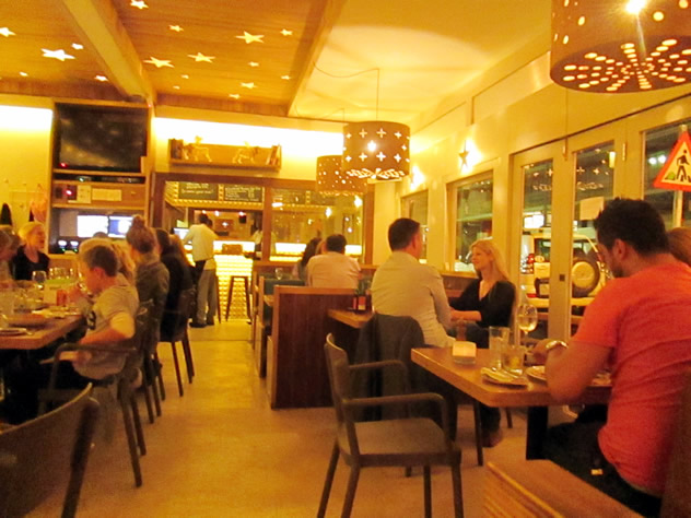 Guests dining at Cornuti Stella e Luna. Photo courtesy of the restaurant.
