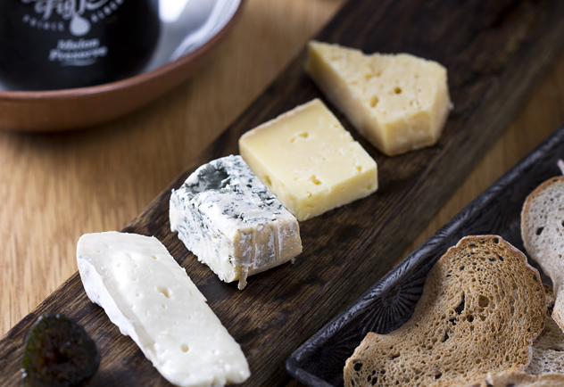 A cheese board and bread at Jordan Restaurant. Photo courtesy of the restaurant.