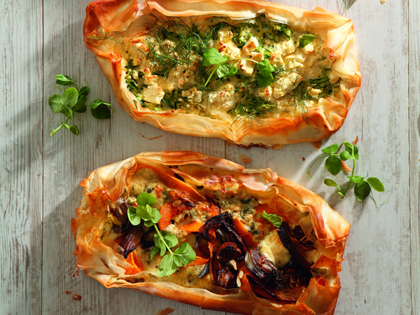 Vegetable Filo Pastry Tart Recipe — Dishmaps