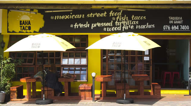 Outside at Baha Taco. Photo courtesy of the Rupesh Kassen.