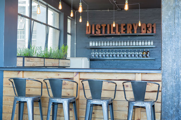 The bar at Distillery031. Photo courtesy of the restaurant.