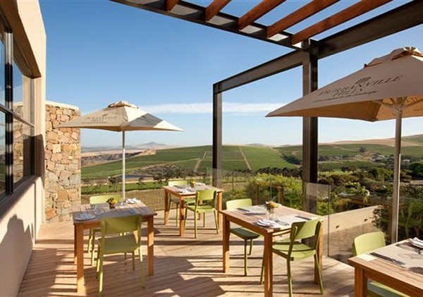 The deck area at Durbanville Hills. Photo courtesy of the estate.