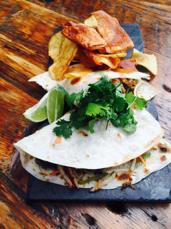The pulled pork taco at The Foundry. Photo courtesy of the restaurant.