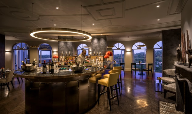 The bar at the View Restaurant. Photo courtesy of the restaurant.